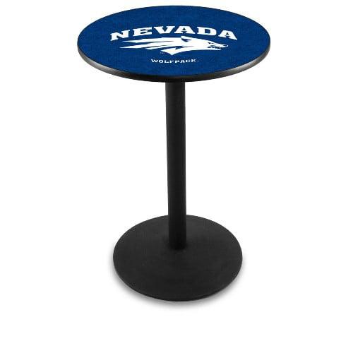 NCAA Pub Table by Holland Bar Stool, Black - University of Nevada, 36'' - L214
