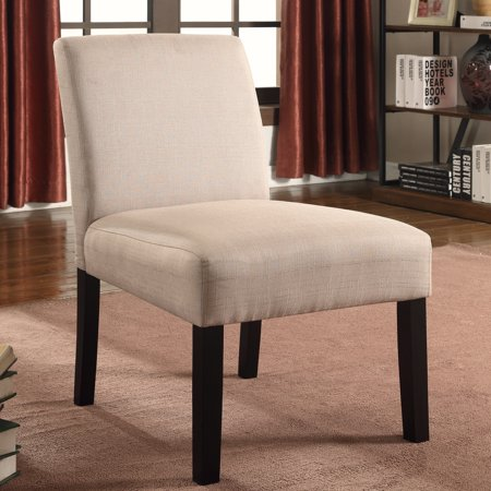 US Pride Furniture Brigitte Wood Mottled Fabric Accent Chair with Solid Wood Legs (Set of 2) Beige, C-070