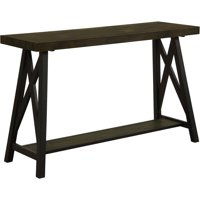 Furniture of America Chester Industrial Sofa Table, Medium Weathered Oak