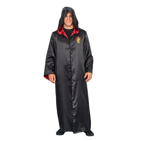 Harry Potter Gryffindor Costume Black and Red Long Robe with Hood - Gryffindor Robes
