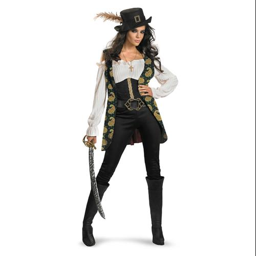 Deluxe Womens Angelica Pirate Costume Plus Size 18-20