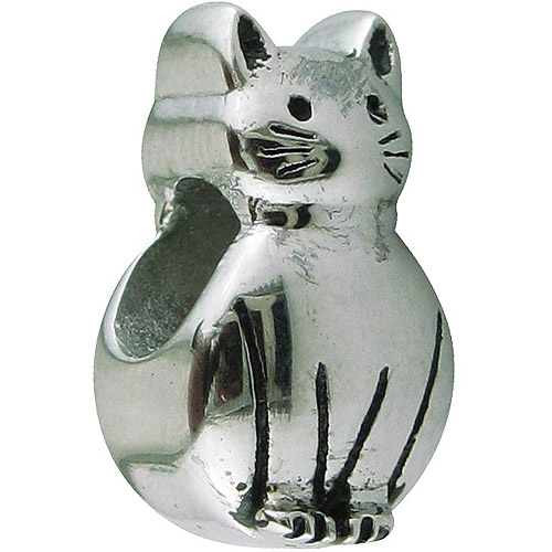 Connections from Hallmark Stainless-Steel Cat Charm