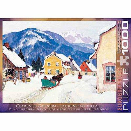 EuroGraphics Laurentian Village by Clarence Gagnon 1000-Piece Puzzle - Activity Village Halloween Puzzles