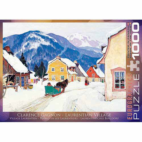 EuroGraphics Laurentian Village by Clarence Gagnon 1000-Piece Puzzle