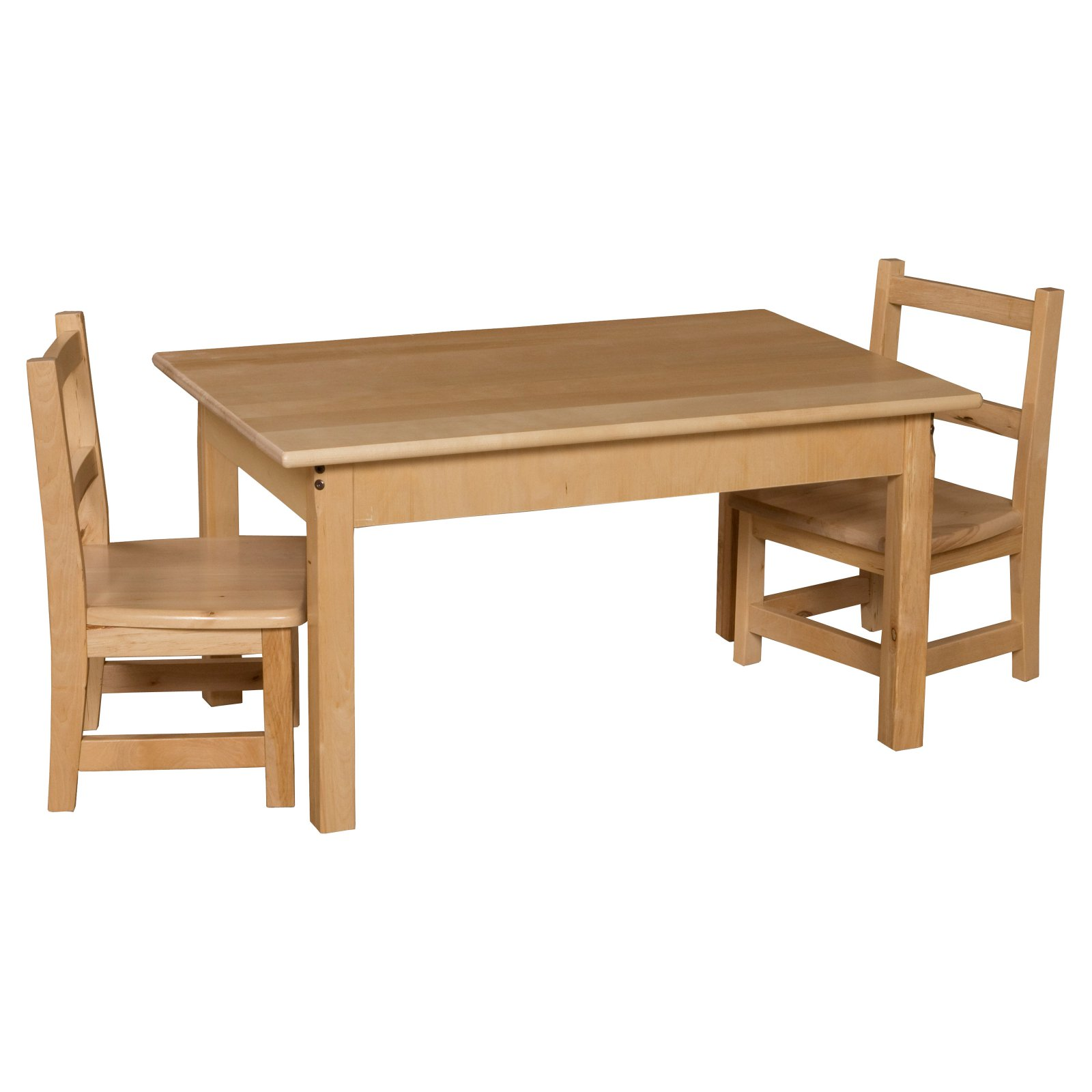 Wood Designs Rectangle Table and Chair Set