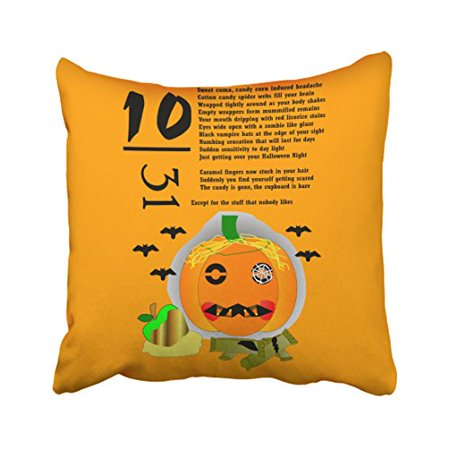 Hangover Halloween (WinHome Decorative Pillowcases Halloween Hangover Throw Pillow Covers Cases Cushion Cover Case Sofa 18x18 Inches Two)