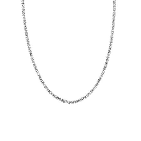 Chain Choker Necklace in Sterling Silver