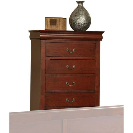 Acme Furniture Louis Philippe III Chest with Five Drawers, Multiple (Louis Phillipe Cherry)