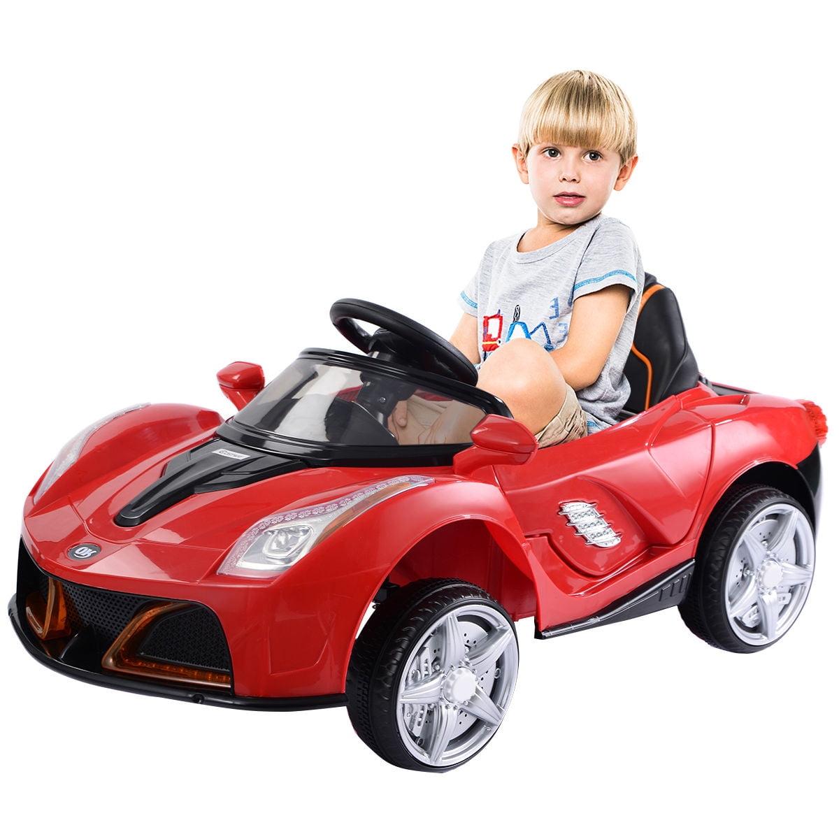 12v Rc Led Lights Battery Powered Kids Riding Car Walmart Com Walmart Com
