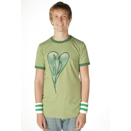 The Smashing Pumpkins Distressed Heart Heather Green Adult T-Shirt