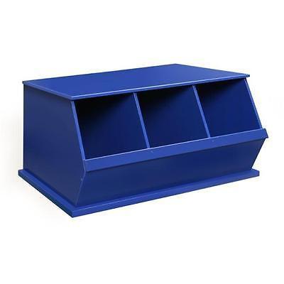 Badger Basket 09776 Three Bin Storage Cubby Blue Home Organizers Istilo107109 by GSS