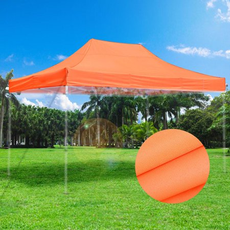 Yescom 10x15' 550D EZ Pop Up Canopy Top Replacement Patio Sun Shade Tent White/Orange Opt