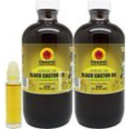 Tropic Isle Living Jamaican Black Castor Oil 8 oz (Pack of