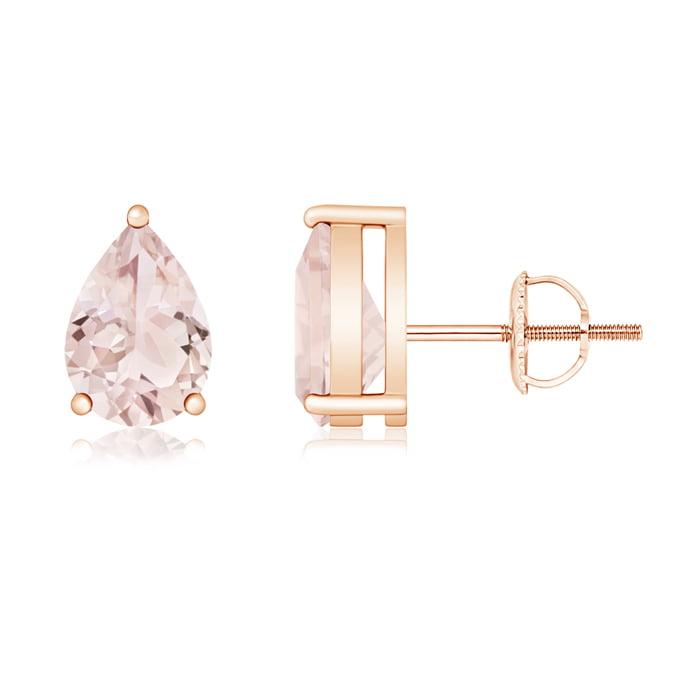 Angara Pear-Shaped Morganite Stud Earrings UySGxnxBqe