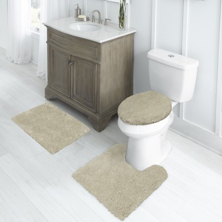 Better Homes & Gardens Nylon Thick And Plush 3-Piece Bath Rug Set with 17