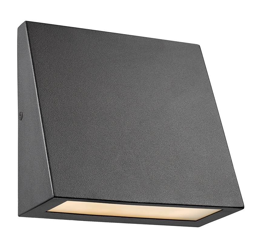 """CHLOE Lighting BRONX Contemporary LED Light Textured Black Outdoor Wall Sconce 6"""" Tall"""