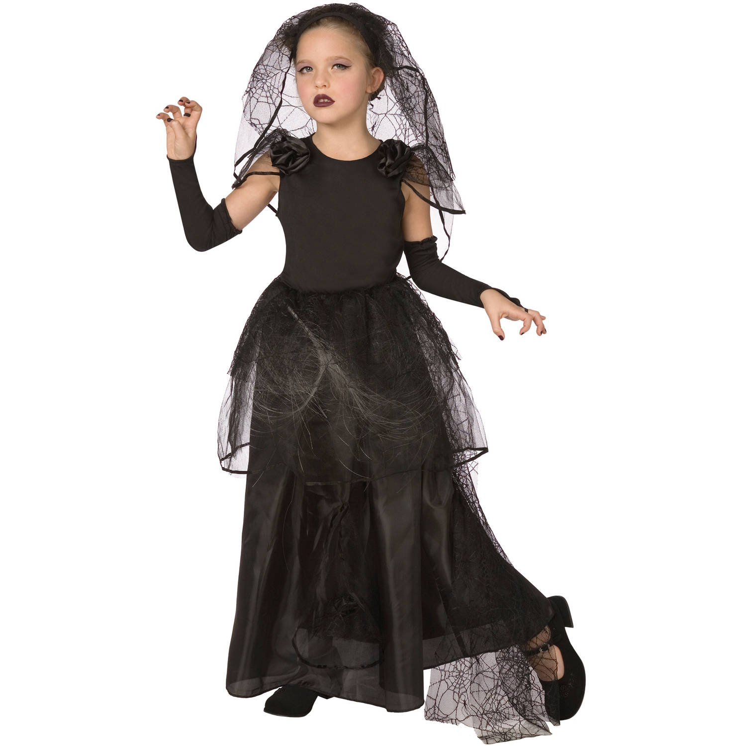 Dark Bride Child Halloween Dress Up / Role Play Costume