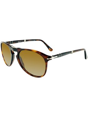 949855245bb Product Image Persol PO9714S-95 58-55 Black Oval Sunglasses