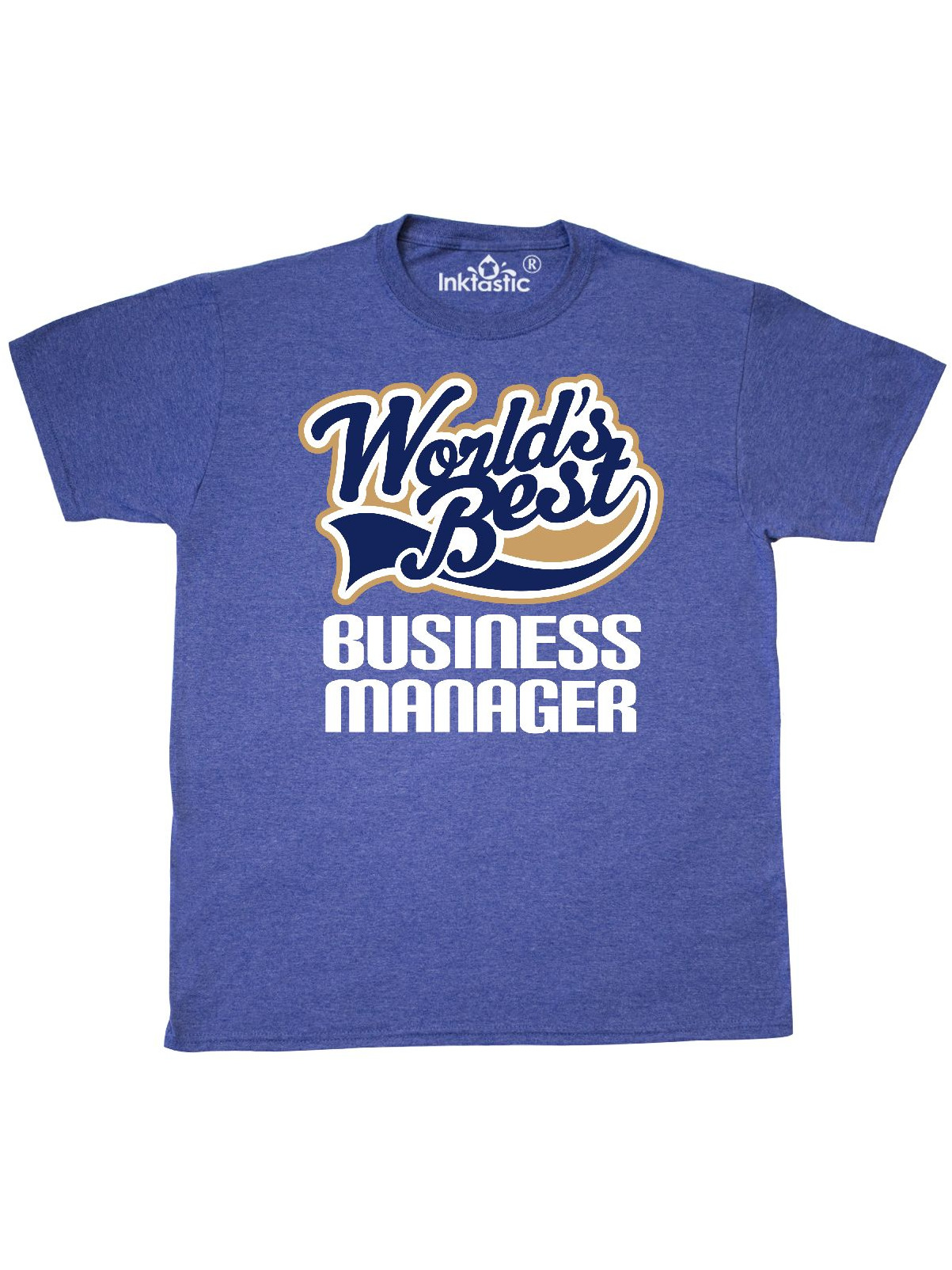 faba2b8bc INKtastic - Worlds Best Business Manager T-Shirt - Walmart.com