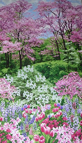 Botanic Garden 24 Fabric Panel Timeless Treasures Spring Nature Walk C2759