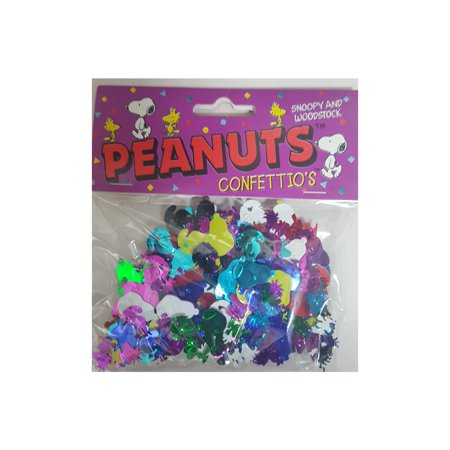 Peanuts Snoopy & Woodstock Package of Colorful Confetti Confettio's - Snoopy Birthday