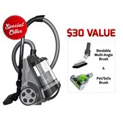 Best Bagless Canister Vacuums - Ovente Cyclonic Canister Vacuum – Bagless – HEPA Review