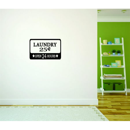 Popular Wall Decor  Laundry 5 Cents Open Sign Home Decor Picture Art Size  10 Inches X 16 Inches