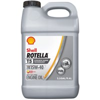 Shell Rotella T5 15W-40 Synthetic Blend Diesel Engine Oil, 2.5 gal