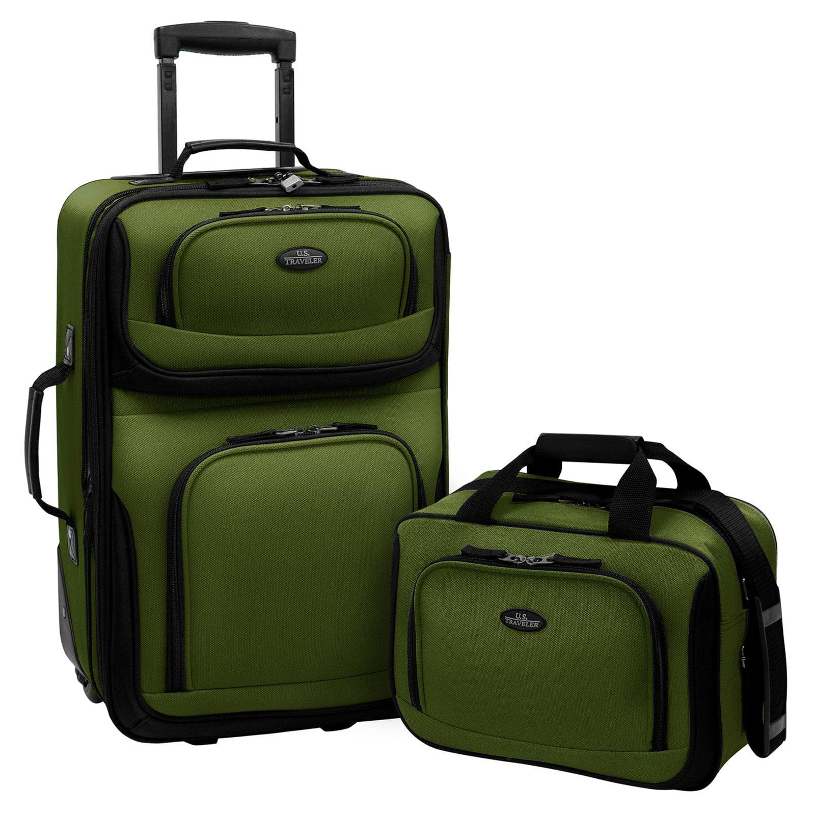 U.S. Traveler Rio 2-Piece Carry-On Luggage Set, Multiple Colors ...