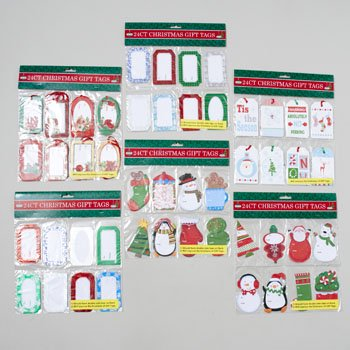 Glitter Christmas Gift Tags 24 (Glitter Tags)