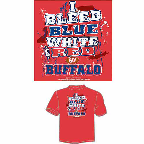 "Buffalo Football ""I Bleed Blue, White and Red, Go Buffalo"" T-Shirt, Red"