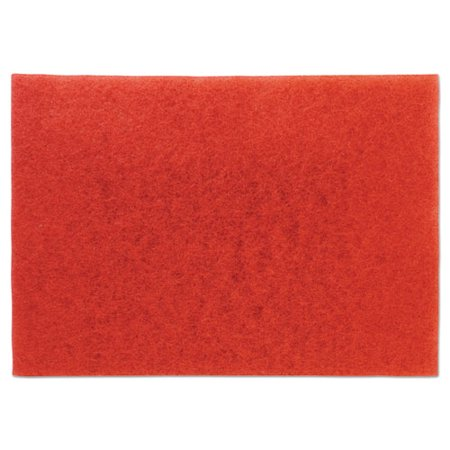 3m Red Buffer Floor Pads 5100, Low-Speed, 28 x 14, (Best Home Floor Buffer)