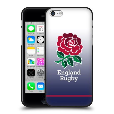 09 Home Rugby (OFFICIAL ENGLAND RUGBY UNION 2017/18 KIT BLACK SOFT GEL CASE FOR APPLE IPHONE PHONES )