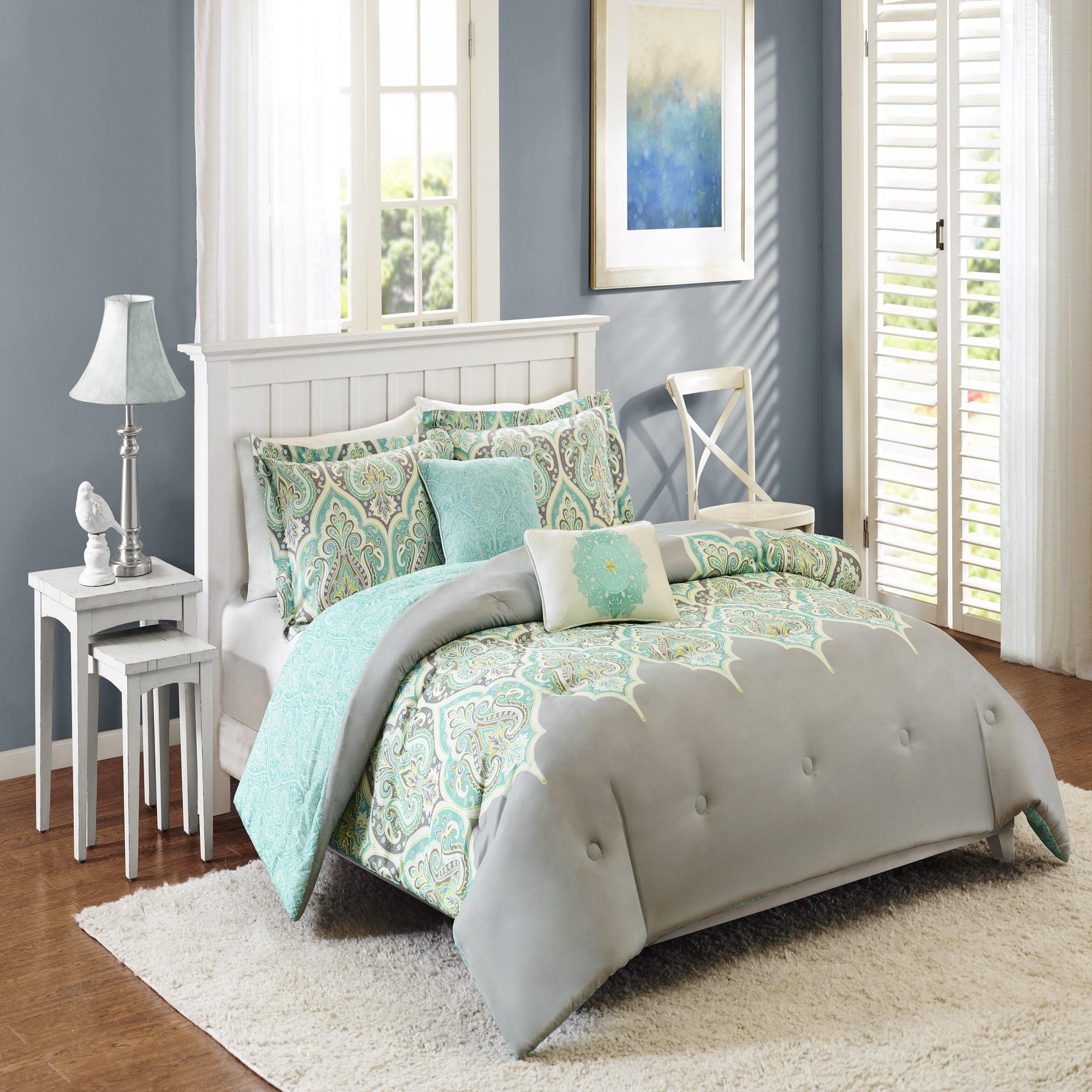 Better Homes & Gardens Full or Queen Kashmir Bedding Comforter Set, 5 Piece
