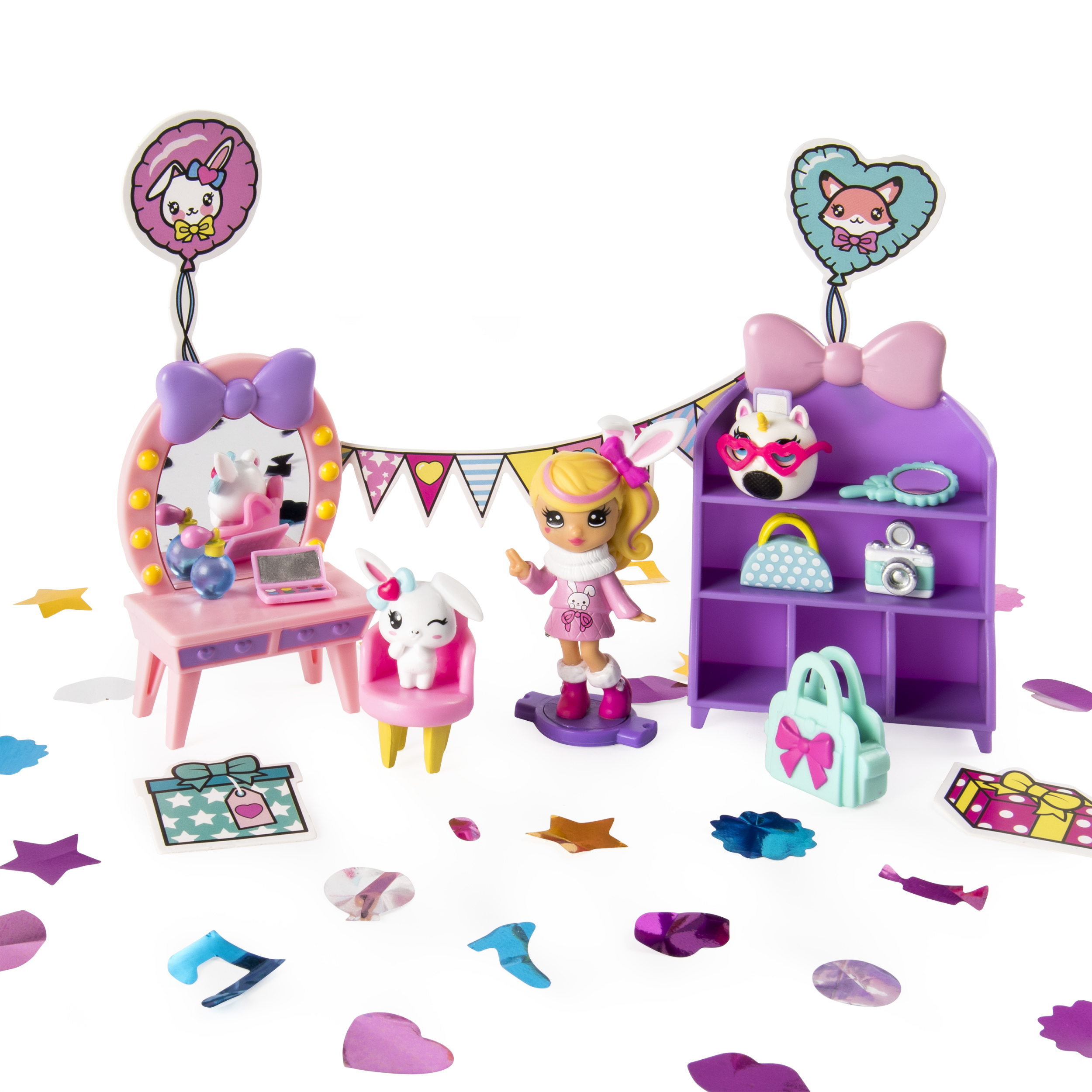 Party Popteenies Cutie Animal Party Surprise Box Playset