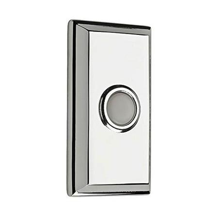 Baldwin Reserve 9BR7015003 Rectangular Bell Button Bright Chrome (Rectangular Bell Button)