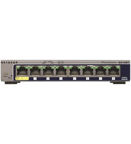Netgear NET-GS108T-200NAS 8 Port Gigabit Smart Switch by NETGEAR