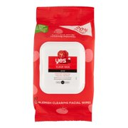 30 Count, Single Pack, Yes To Tomatoes Clear Skin Blemish Clearing Makeup Remover Wipes