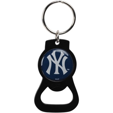 New York Yankees Bottle Opener Keychain - Black - No Size
