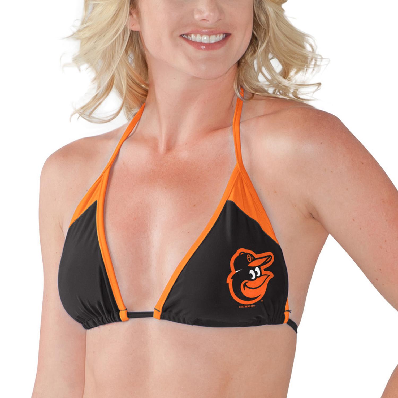 Baltimore Orioles G-III 4Her by Carl Banks Women's Outfielder Bikini Top - Black