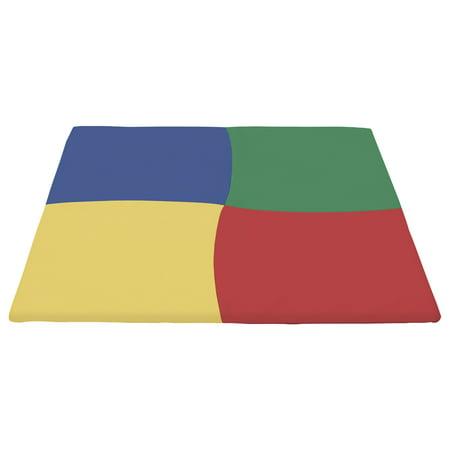 SoftZone® Twisty Squares Activity Mat Square - Primary