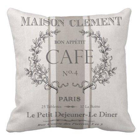 Vintage Grain Sack - Emvency Throw Pillow Cover Grain Modern Vintage French Sac Decorative Pillow Case Home Decor Square 20 x 20 Inch Pillowcase