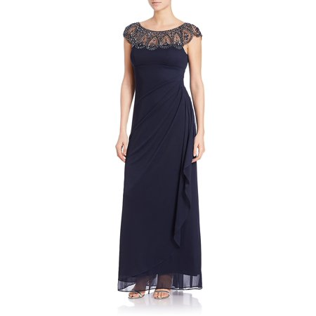3d88b1c4 Xscape - Embellished Mock Wrap Gown - Walmart.com