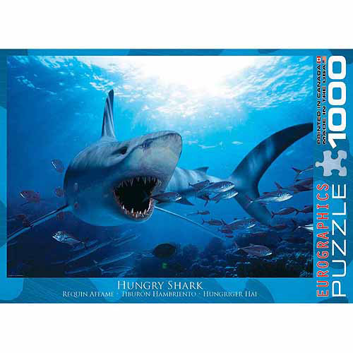 EuroGraphics Hungry Shark 1000-Piece Puzzle