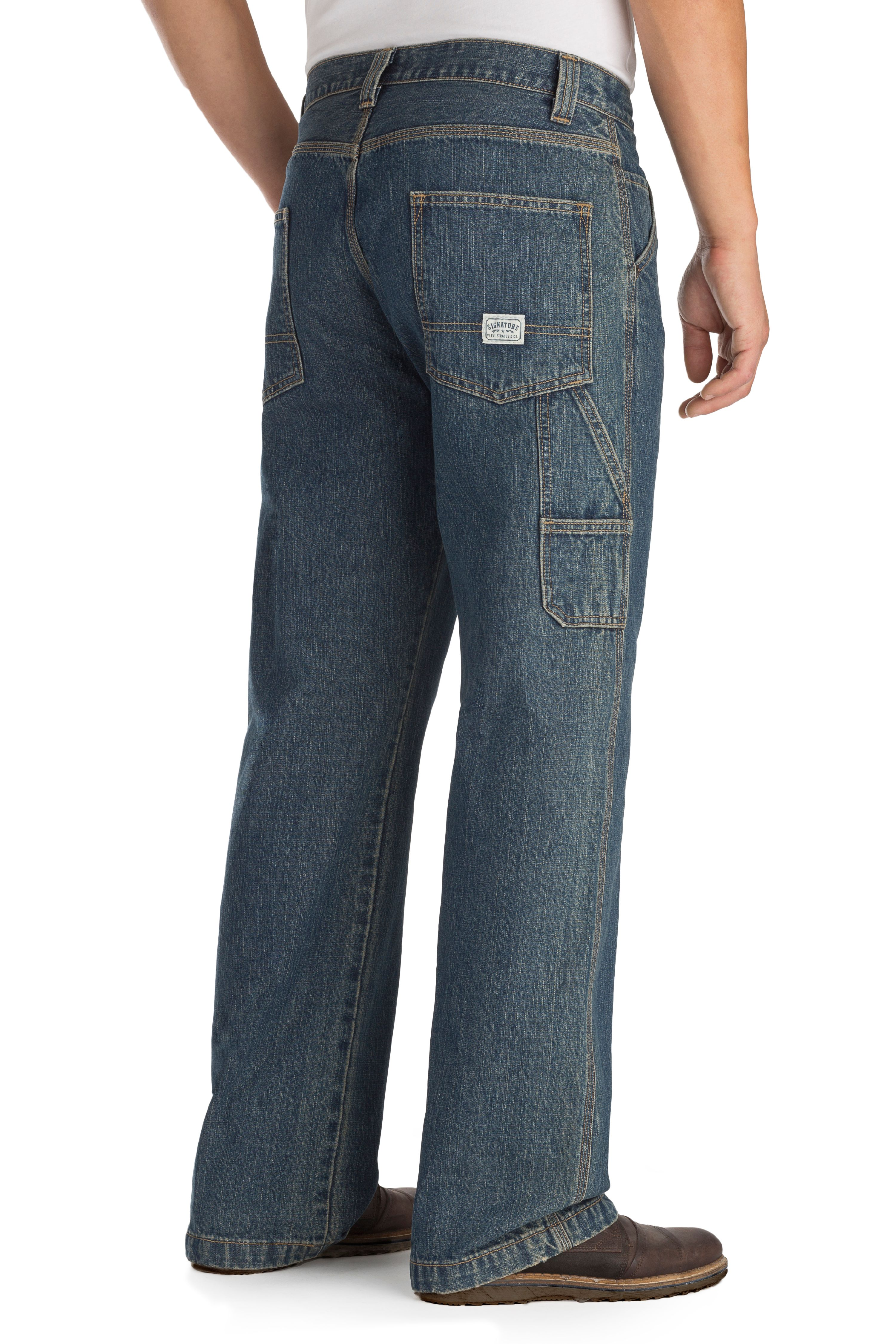 bec513f26fc Signature by Levi Strauss   Co. Men s Carpenter Jeans nbsp  - Walmart.com