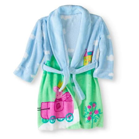 Girls Fleece Shawl Collar Robe - Toddler Girls' Robe