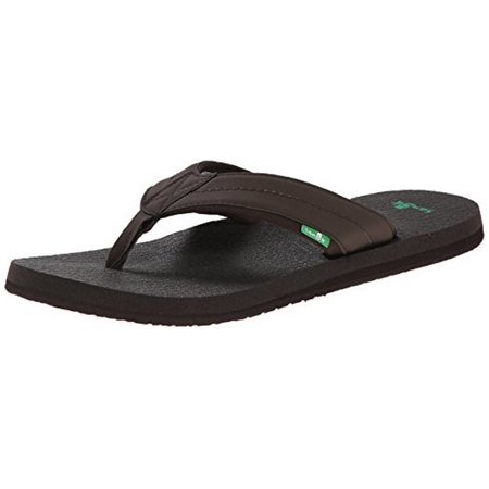 SANUK MEN'S BEER COZY 2 FLIP FLOP DKB