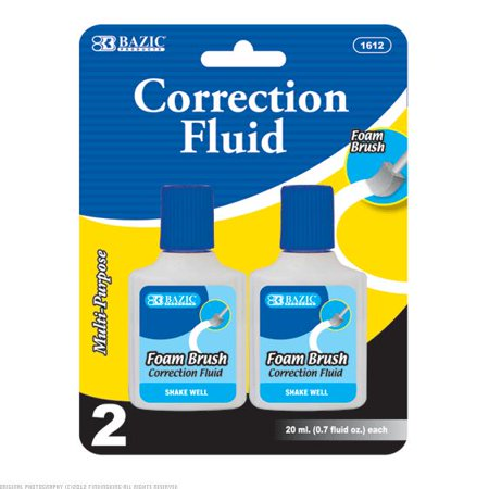 Super Smooth Correction Fluid (New 307662  Correction Fluid 2Pc Wide Body Bazic (24-Pack) School Supplies Cheap Wholesale Discount Bulk Stationery School Supplies Fix Patch)