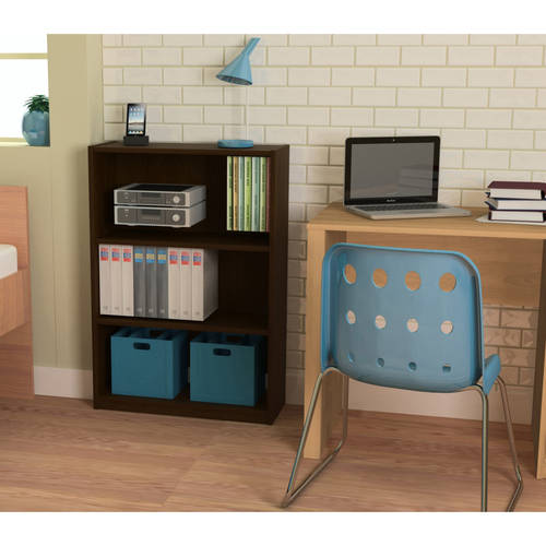 Ameriwood 3-Shelf Bookcase, Multiple Finishes
