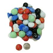 Multi Color Aquarium Decoration Marble (Button Shape;Ceramic),DG-30